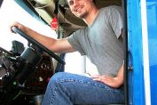 Truck driver passed the CDL test
