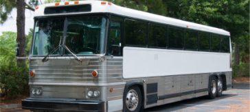 Class B CDL bus with tinted windows